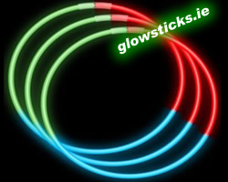 (Pack of 50) Quality Tri Colour Glow Necklaces 6mm x 580mm