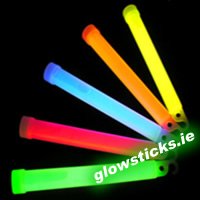 "48 x Thick 6"" Glowsticks in Retail Packaging"