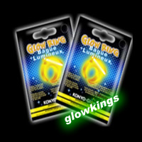 100 x Retail Packaged Glow Rings