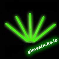 "(Pack of 25) Green 6"" Glow Sticks 150mm"