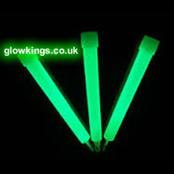 "Thick Green 6"" Glow Sticks"