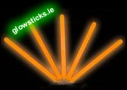"(Pack of 25) 10"" Orange Glow Sticks"