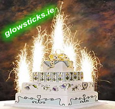 Pack of 2 Cake Sparkler Fountains