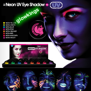 UV Neon Eye Shadow (various colours)