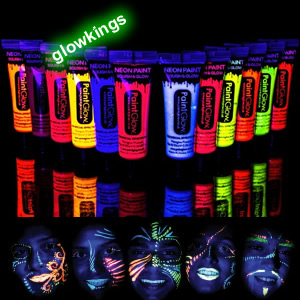 Set of 4 UV Face Paint Neon Body Paint 12ml 50% OFF