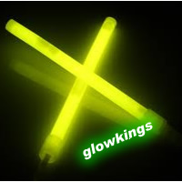 "(Pack of 25) 8"" Yellow Glow Sticks"