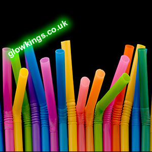 Jumbo flexible Party Drinking Straws (Pack of 100)