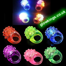 Multi-Colour Flashing Bubbly Rings
