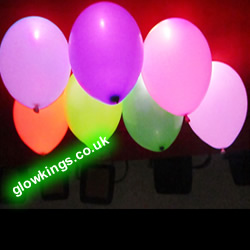 Flashing Glow Light Up Balloons (Pack of 5) - SPECIAL OFFER 50% Off