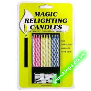 Joke Trick Relighting Candles Pack of 10